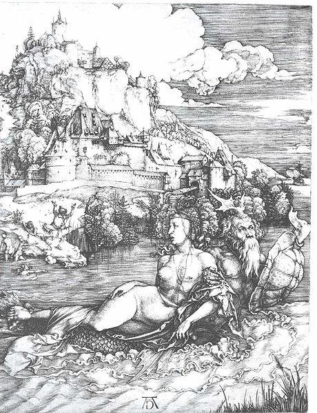 Dürer Das Meerwunder circa 1498 246 × 147 mm (9.69 × 5.79 in)